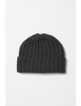 Dinadi MERINO Thick Rib Hat Charcoal Grey-20