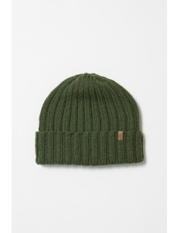 Dinadi MERINO Thick Rib Hat Forest Green-20