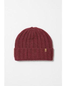 Dinadi MERINO Thick Rib Hat Garnet Red-20
