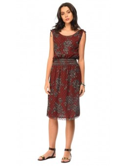 MKT Studio Ripily Dress Bordeaux-20