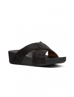 FitFlop Ritzy Slide Sandals Black-20