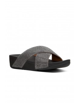 FitFlop Ritzy Slide Sandals Pewter-20
