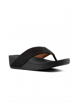 FitFlop Ritzy Toe-Thong Sandals Black-20