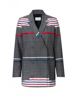 Libertine-Libertine Shift Blazer Check Stripe-20