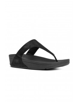 FitFlop Shimmy Suede Toe-Post Black Glimmer-20