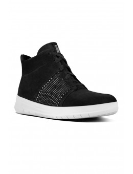 FitFlop SPORTY-POP™ X Crystal High-Top Sneakers Black-20