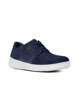 FitFlop SPORTY-POP™ X Crystal Suede Sneakers Navy-20