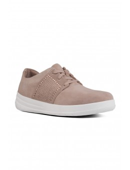 FitFlop SPORTY-POP™ X Crystal Suede Sneakers Mocha-20