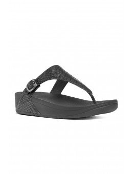 FitFlop The Skinny™ Black Snake-20