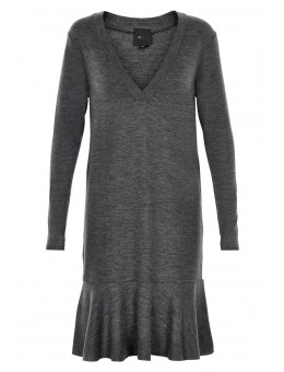 Six Ames Walla Dress Dark Grey Melange-20